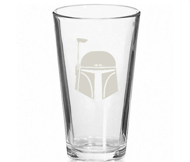Boba Fett pint glass