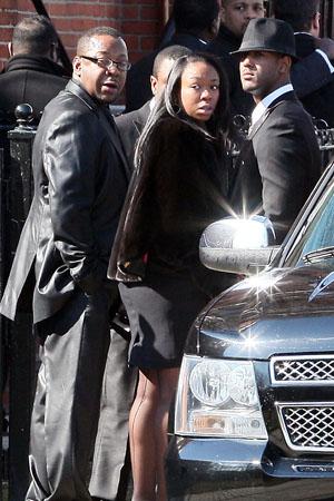 Bobby Brown left Whitney Houston's funeral