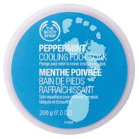 Body Shop peppermint cooling foot soak