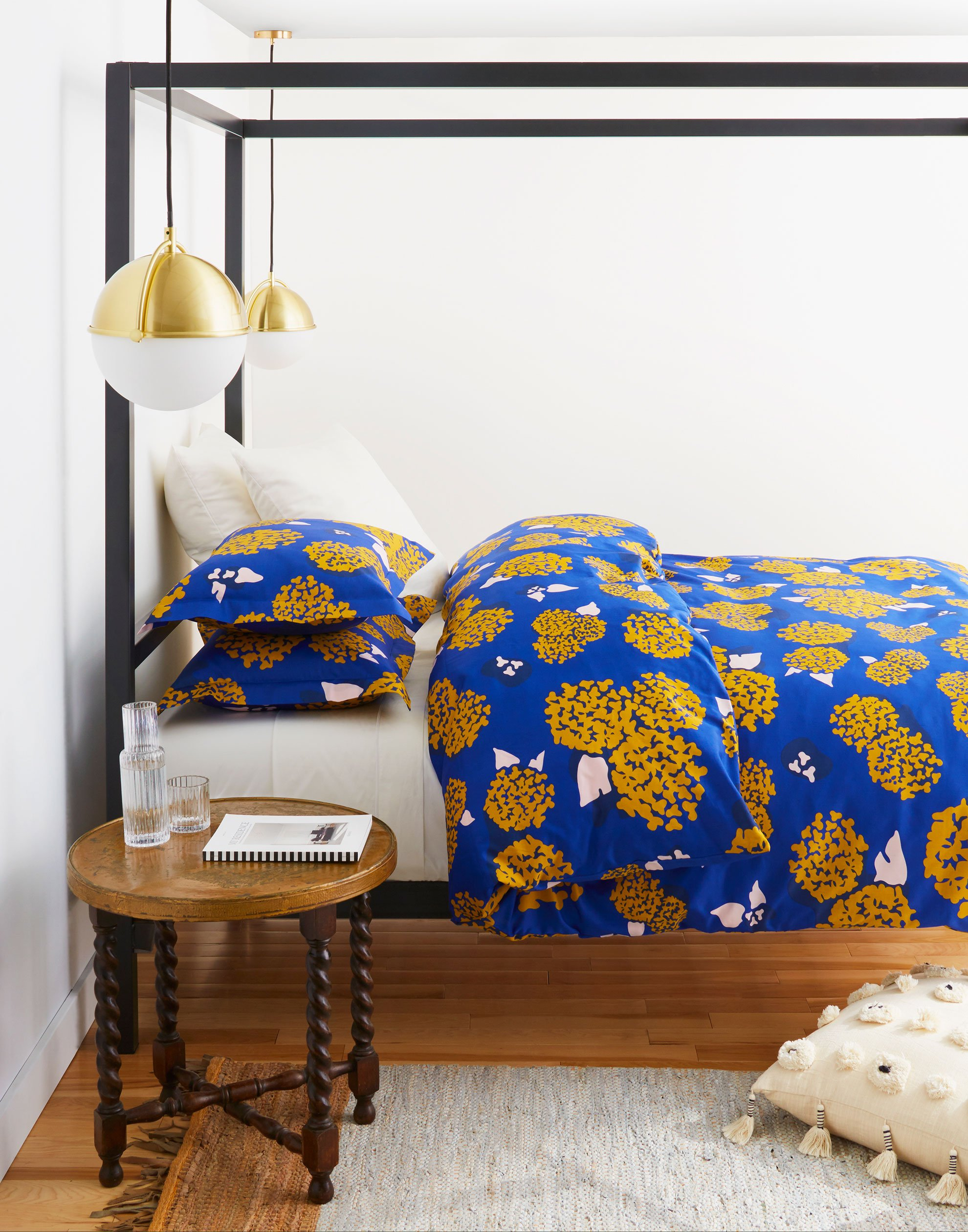 This bold hydrangea bed set is from Hygge and West