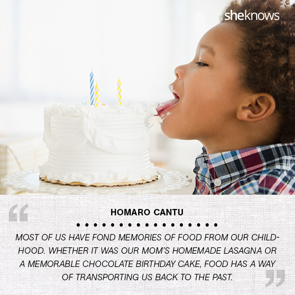 child licking the frosting on a cake