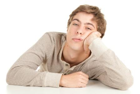 Bored teen boy