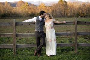 Borrowed wedding dress
