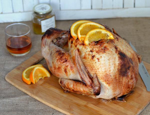 Bourbon and honey glazed turkey