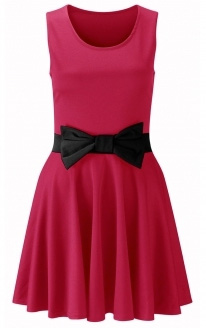 Pink dress with bows