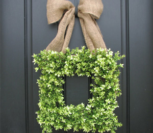 Boxwood spring wreath