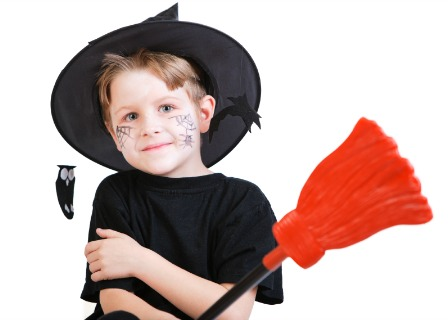 Boy dressed as a witch