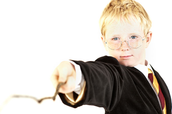 Boy wearing a Harry Potter theme costume | Sheknows.com.au
