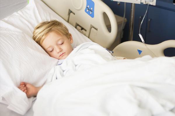 Boy with meningitis