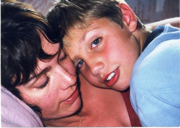 Dana Perry and her son Evan in Boy Interrupted