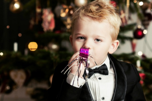 Boy on New Year's Eve