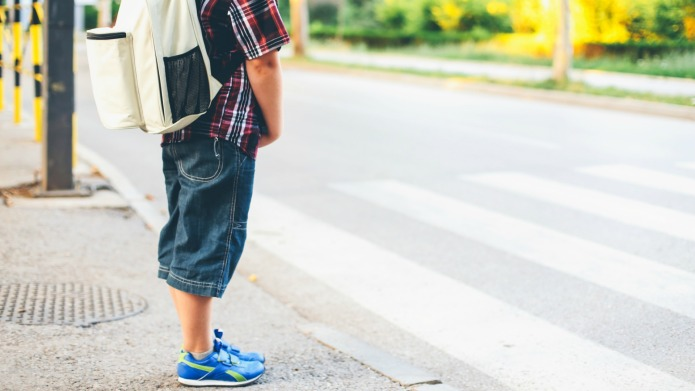 Mom makes kids walk to school