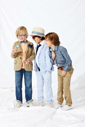 Boys in Easter blazers
