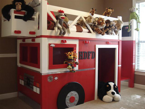 Fire station loft bed