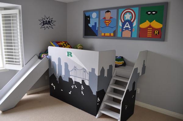 Super-hero slide