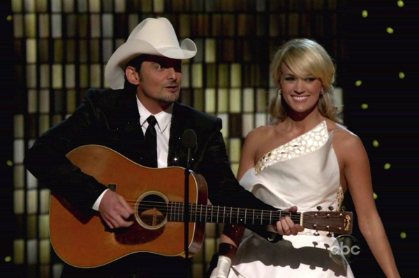 Brad Paisley and Carrie Underwood hosting the 45th Annual CMAs