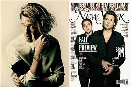 Brad Pitt and Jonah Hill NY Magazine Cover