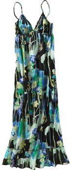 Braided-Strap Floral Print Sundown Gown