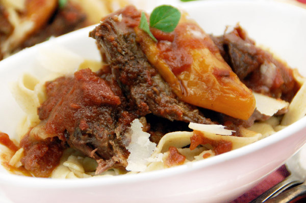 Tomato-braised beef short ribs