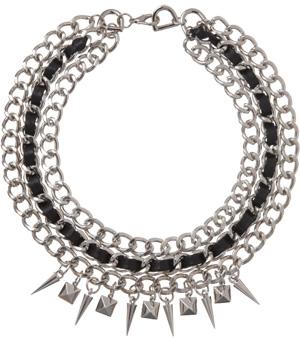 Fallon's silver triple chain necklace