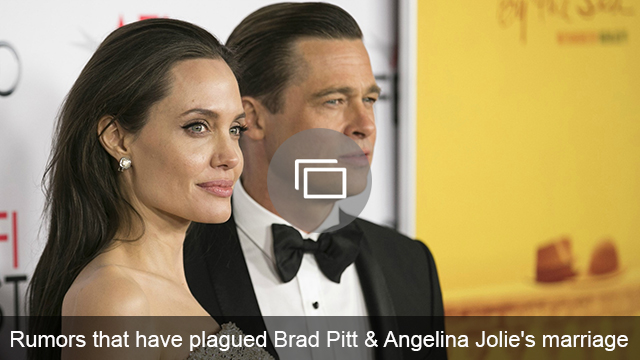 Angelina Jolie and Brad Pitt marriage rumors slideshow