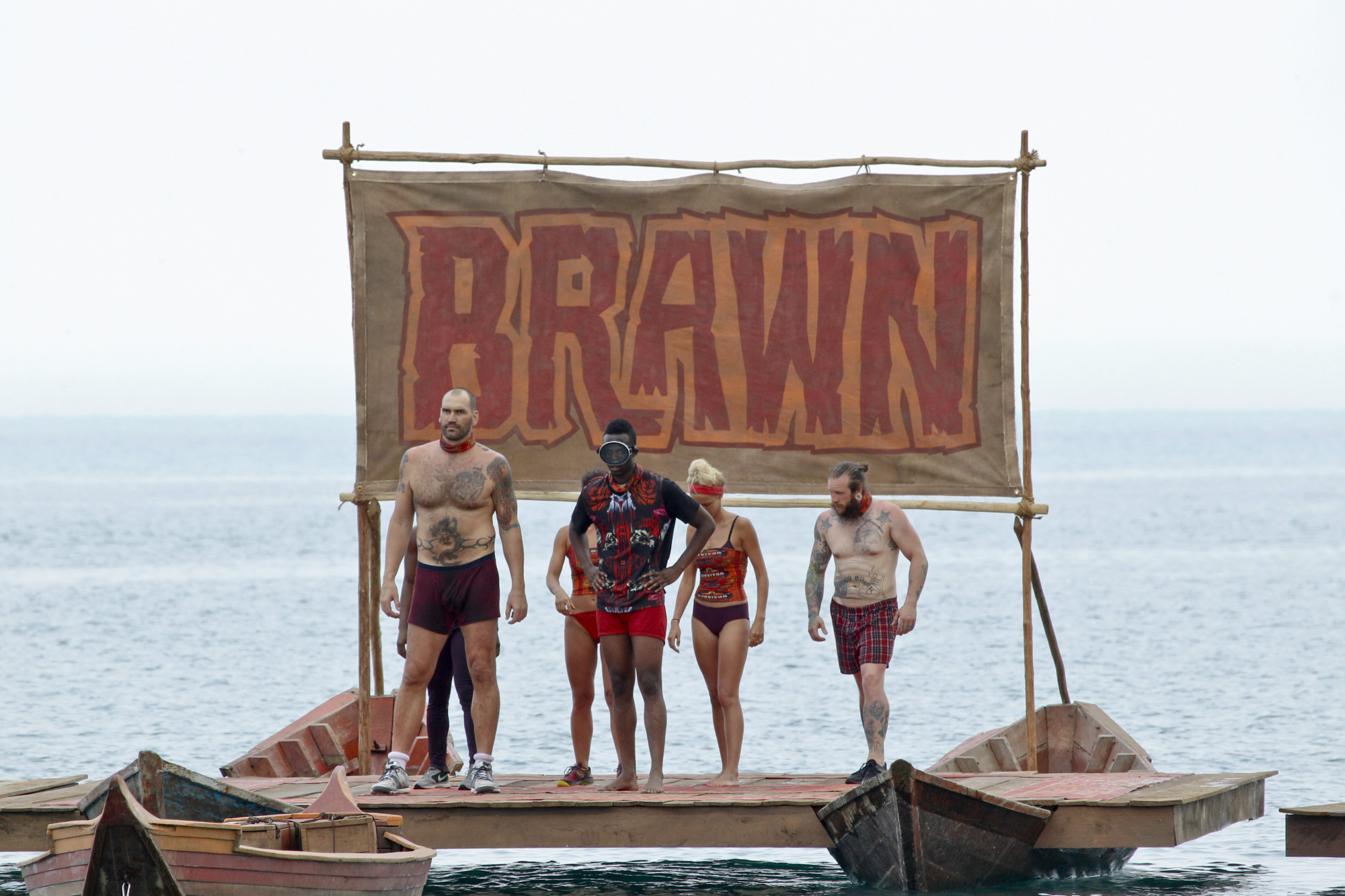 Brawn tribe ready to compete in first Immunity challenge on Survivor: Kaoh Rong
