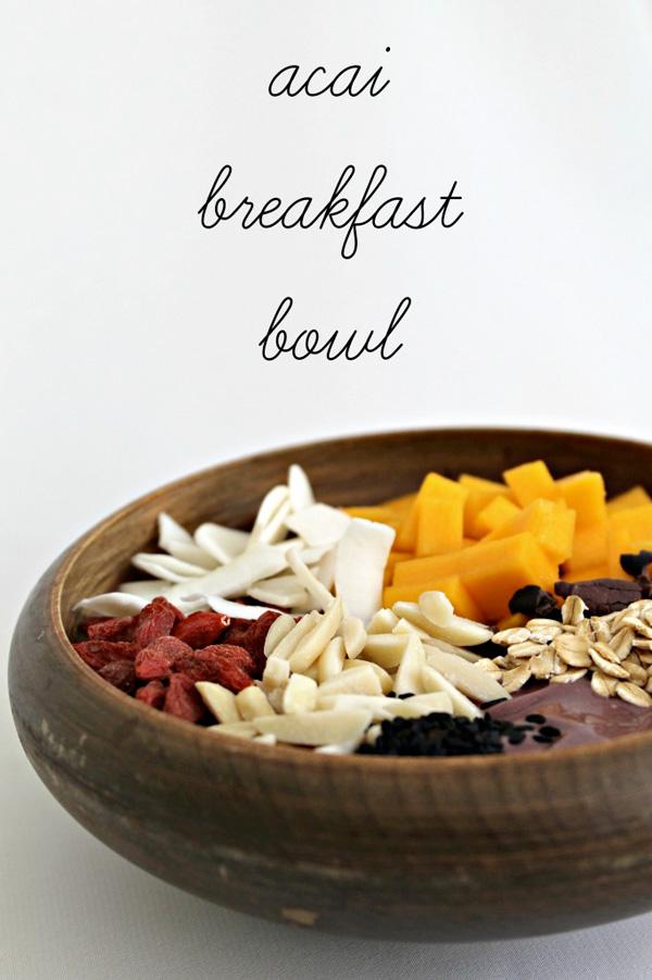 Acai breakfast bowls