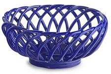 Oval stoneware breadbasket