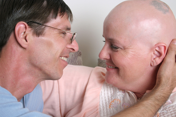 Breast cancer patient and husband