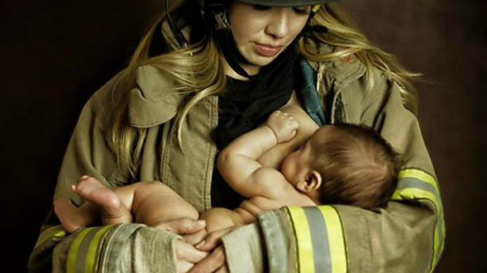 A woman went viral for breastfeeding,