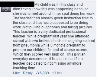 High school teacher breastfeeds at school