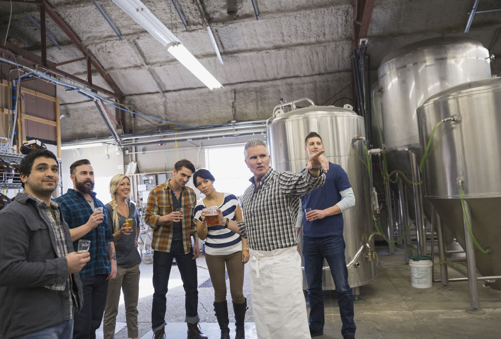 A brewery tour