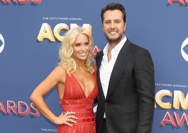 Caroline Boyer & Luke Bryan attend the 53rd Academy of Country Music Awards
