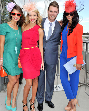 Brian McFadden with model at Melbourne Cup Day