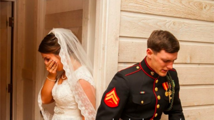 One military couple brought everyone to