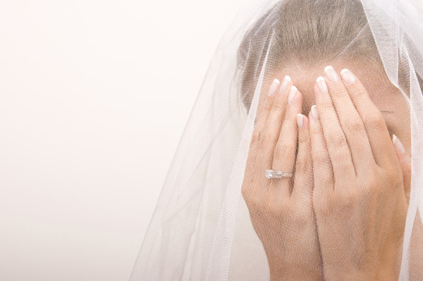 Bride freaking out over wedding disaster
