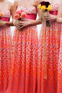 Patterned bridesmaid dress