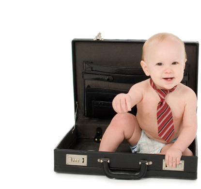Baby in a briefcase