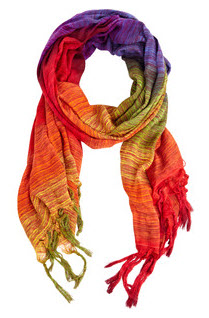 bright scarf by warehouse for seasonal fashion