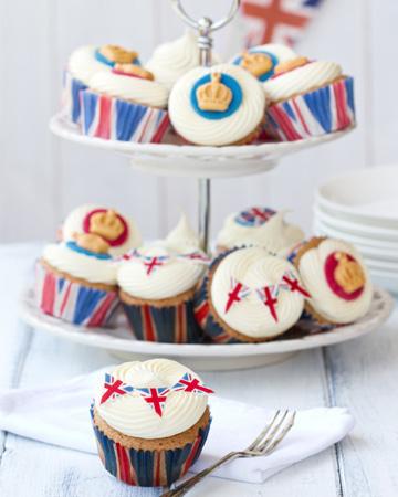 British flag cupcakes