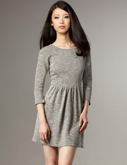Tibi Melange fit-and-flare dress