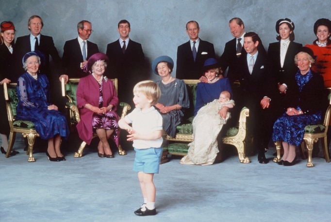 Prince William at Prince harry's christening