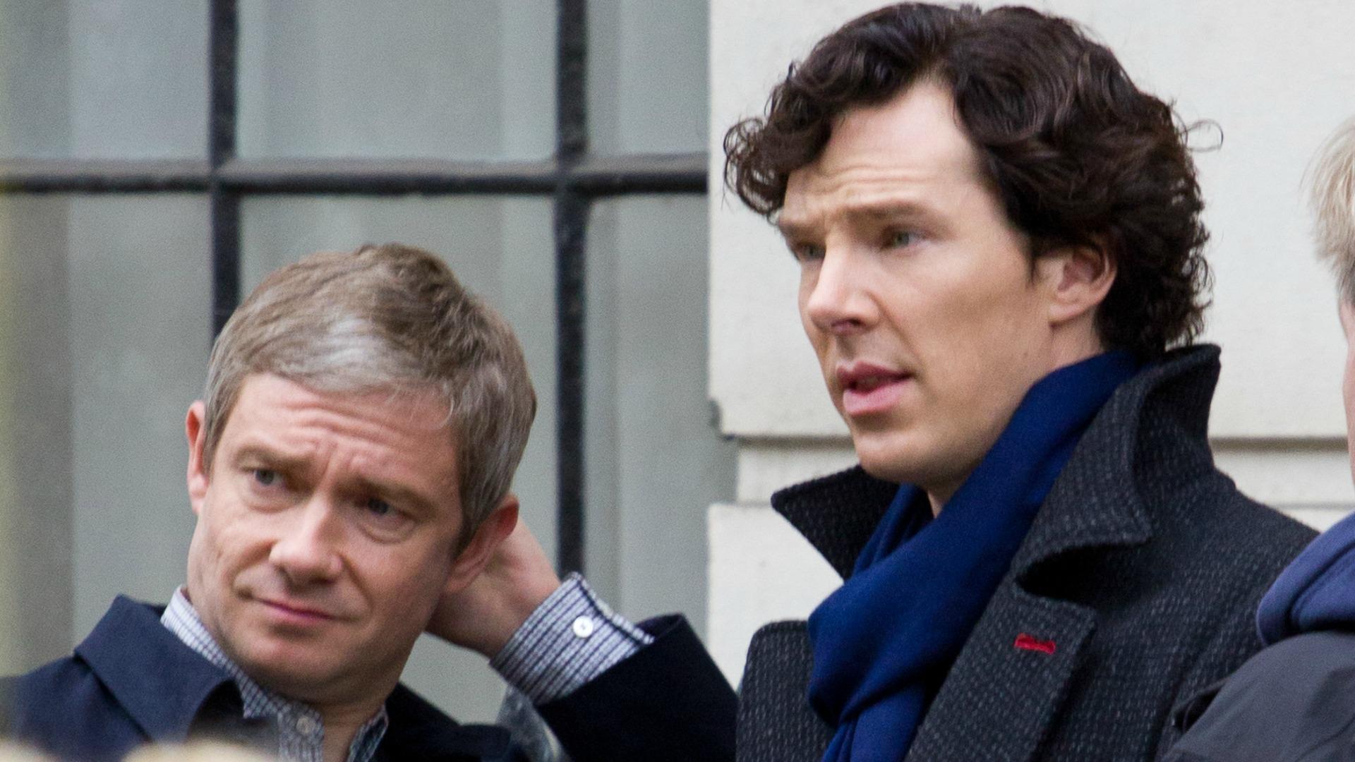 Super bromance: Sherlock and John.