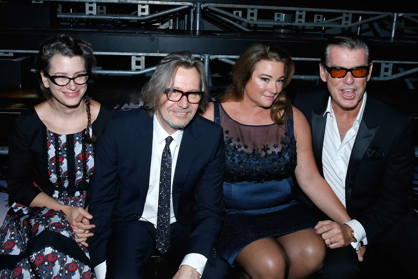 Pierce Brosnan, Gary Oldman with their wives