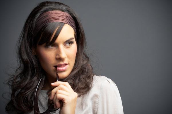Brown hair and headband