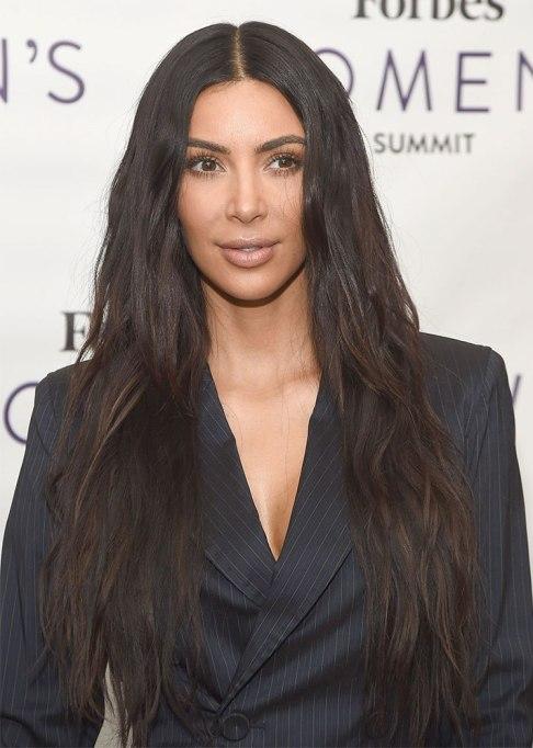 Best Celebrity Hair Transformations of 2017: Kim Kardashian's signature long brown hair