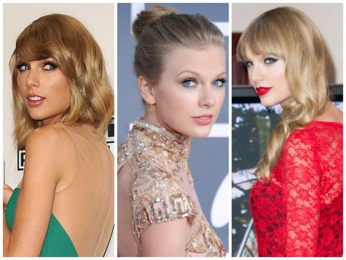 Taylor Swift loves the over-the-shoulder-smolder pose,
