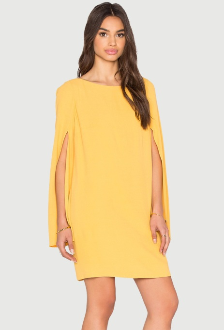 Marigold dress with sleeves