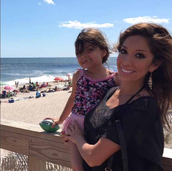 Teen Mom's Farrah Abraham and daughter Sophia at Fire Island