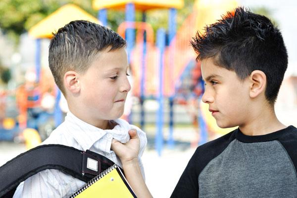 Boy being bullied